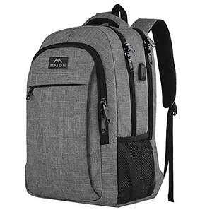 MATEIN Travel Laptop Backpack with USB Charging Port, Anti Theft Business Backpack - £18.68 (+£4.49 Non-Prime) - Sold by YoTwo-Eu / FBA