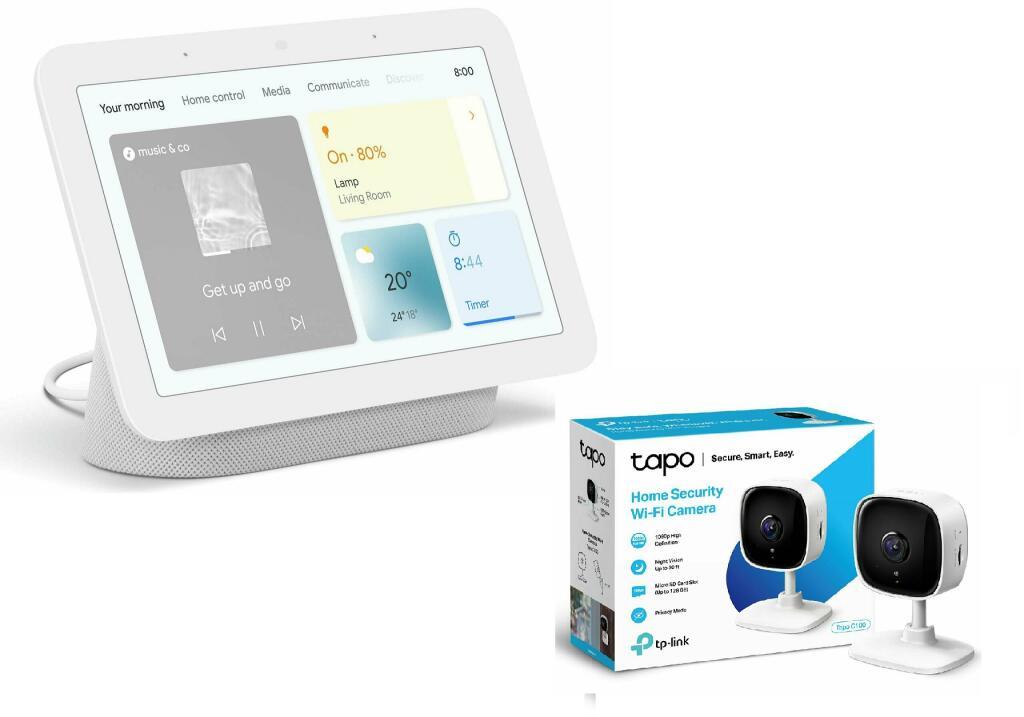 Google Nest Hub 2nd Gen Smart Speaker + TP-Link Tapo C100 Smart 1080p Wi-Fi Indoor Security Camera £69.99 Free Click & Collect @ Argos