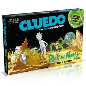 Cluedo Mystery Board Game - Rick and Morty Edition £15.99 delivered with code at Zavvi