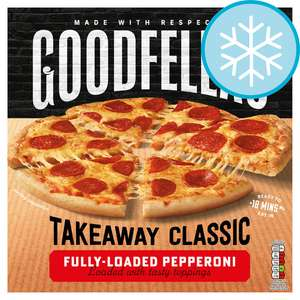 Goodfella's Takeaway Pizzas 555G £2 Clubcard Price at Tesco (Min Basket / Delivery Charge Applies)