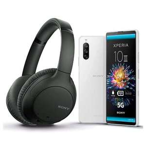 Sony Xperia 10 III SIM Free Black with Free WH-CH710N Noise Cancelling Headphones - £349 + £10 Goodybag @ Giffgaff