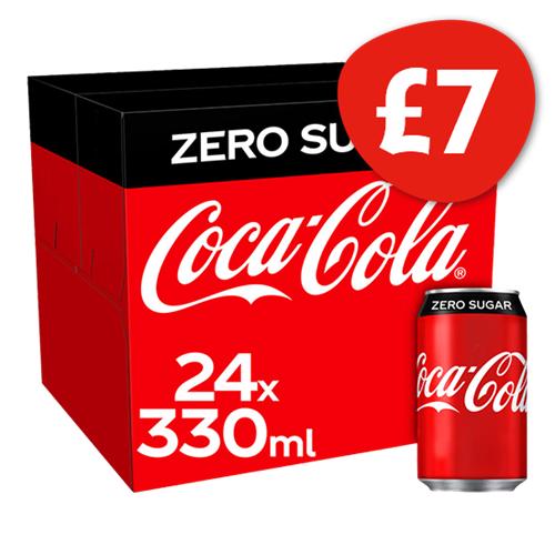 Coca Cola Zero 24 Pack x 330ml - £7 @ Nisa