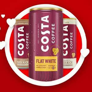 Free chilled can of Costa Coffee from WHSmith worth up to £2.49 (18th June) @ Vodafone VeryMe Rewards