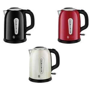 Russell Hobbs Cavendish 3000w 1.7L Kettle - Black / Cream / Red - £19.99 Each Delivered @ Currys