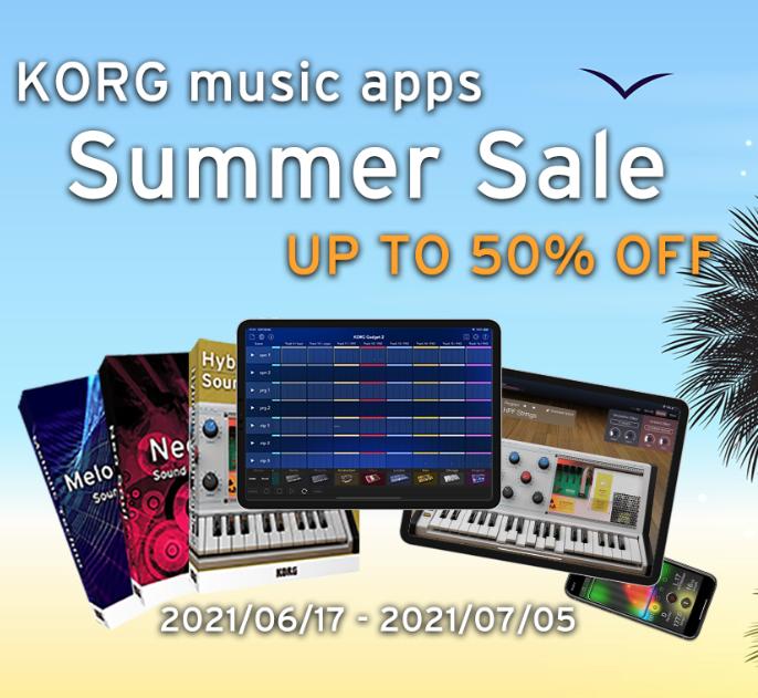 Korg Music Apps 50% Off Summer Sale e.g KORG Gadget 2 for iOS £14.31 @ Korg