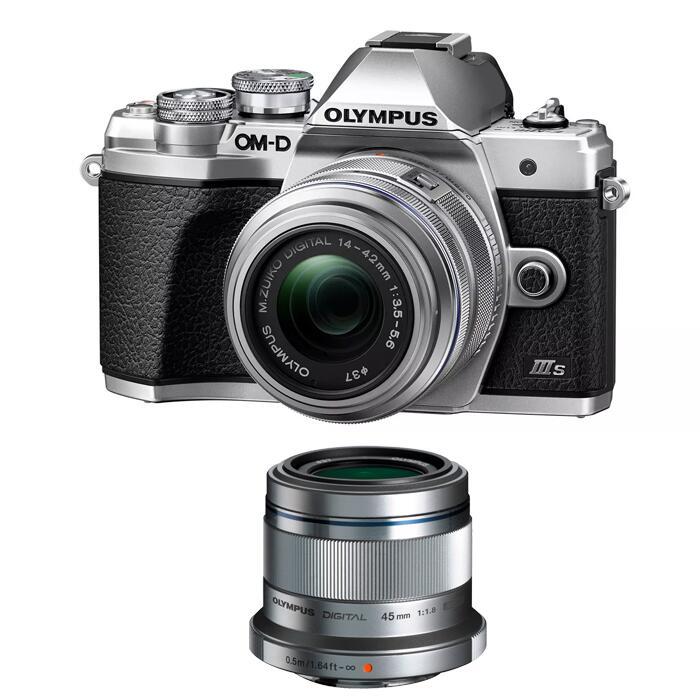 Black or Silver Olympus E‑M10 Mark IIIs 1442 II R Kit + M.Zuiko Digital 45mm F1.8 Lens - £550 Delivered Using Code @ Olympus