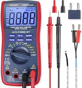AstroAI Digital Multimeter, TRMS 6000 Counts Multimeters Manual and Auto Ranging £17.99 with code Sold by AstroAI Corporation EU & FB Amazon