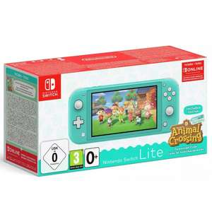 Nintendo Switch Lite Turquoise & Animal Crossing New Horizons Bundle + 5 months Apple Music - £194 with code @ Currys PC World