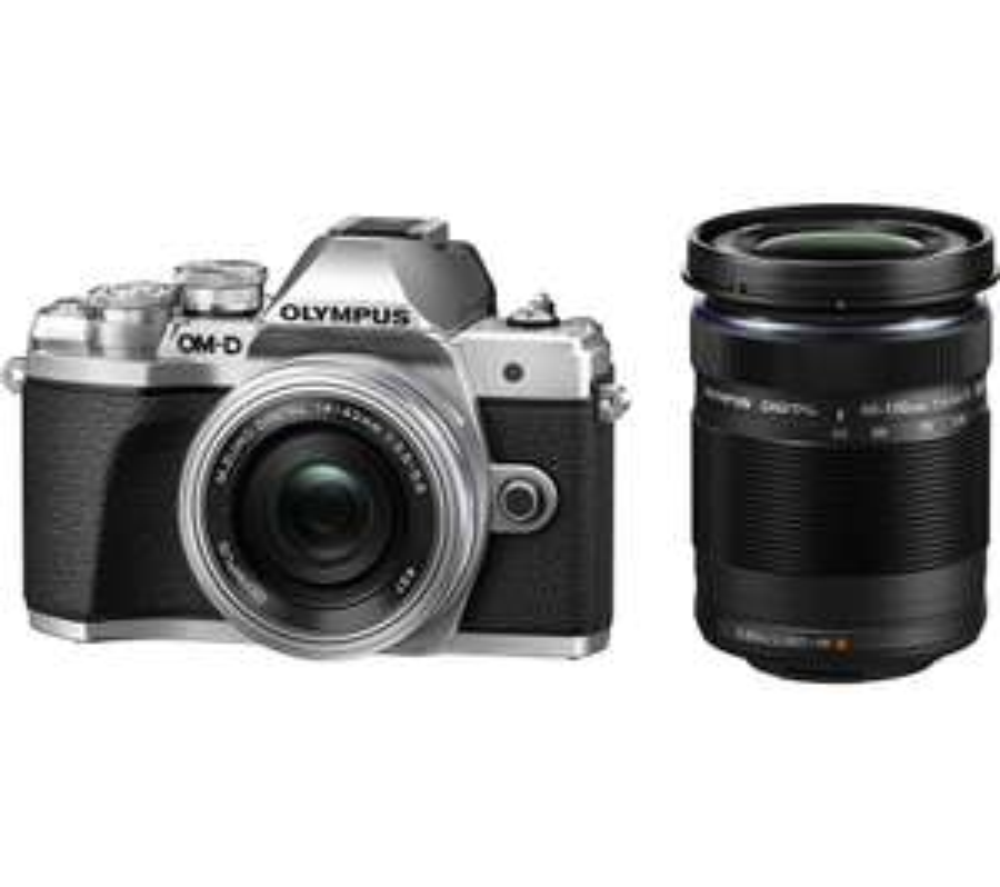 OLYMPUS OM-D E-M10 Mark III Mirrorless Camera w/ M.ZUIKO DIGITAL ED 14-42mm f/3.5-5.6 EZ & ED 40-150mm f/4-5.6 R - £199.98 @ Currys PC World