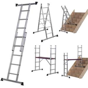Werner Combination Ladder - 5 in 1 with Platform £55 with Free click and collect @ Homebase