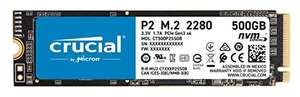 Crucial P2 500GB 3D NAND NVMe PCIe M.2 SSD, £46.05 at Amazon