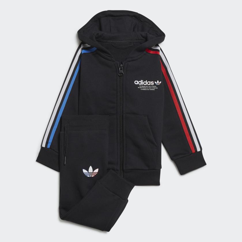 adidas Originals Adicolor Full-Zip Hoodie / Tracksuit Set (up to 4 years) in Black, or Pink £16.72 delivered using code @ adidas
