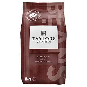 Taylors of Harrogate Lazy Sunday Coffee Beans, 1kg £9.59 / £9.11via Subscribe and save (+£4.49 non-prime) @ Amazon