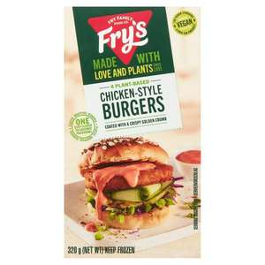 Fry's Meat Free Chicken-Style Burgers x4 320g £2 @ Sainsbury's