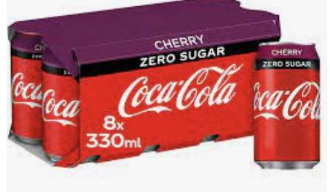 Coca Cola Zero Cherry / Vanilla 8x330ml - £1.29 Instore @ Aldi (Southampton)