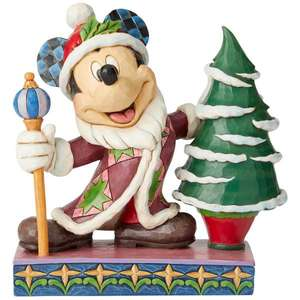 Disney Traditions : Hand Painted - Jolly Ol' St. Mick (Mickey Mouse Father Christmas) 19.0cm £29.99 delivered with code @ Zavvi