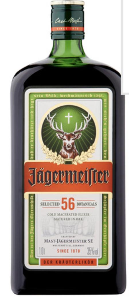 Jagermeister 1L (35% vol) - £20 (Clubcard price) at Tesco
