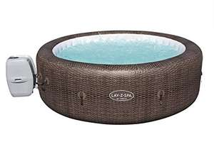 Lay-Z-Spa St Moritz Hot Tub, 180 AirJet Massage System Rattan Design Inflatable Spa with Freeze Shield Year Round, 5-7 Person £608 @ Amazon