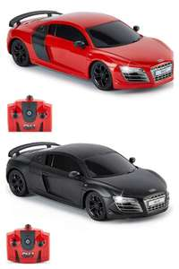 CMJ RC Cars AUDI R8 GT, Licensed Remote Control Car with Working Lights 1:24 scale, 2.4Ghz (Red/Black) £5 (£4.49 p&p non prime) @ Amazon