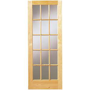 Wickes Whitby Fully Obscure Glazed Pine 15 Lite Internal Door £35 @ Wickes - free Click & Collect