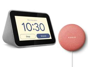 LENOVO Smart Clock with Google Assistant and Google nest mini 2nd generation - £39.99 @ Currys PC World.