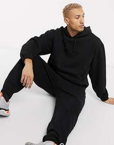 Asos Organic Oversized Tracksuit with Hoodie & Oversized Joggers in black (Selected Sizes) £13.86 with code + £4 Delivery @ Asos