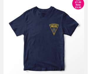 Stranger Things: Hawkins Police Dept T-Shirt (hmv Exclusive) £3.99 + Free click & collect