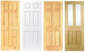 Lincoln Knotty / Pine Durham Clear Pine / Woburn White Grained Moulded Fully Finished 6 Panel Internal Doors - £25 each + free C&C @ Wickes