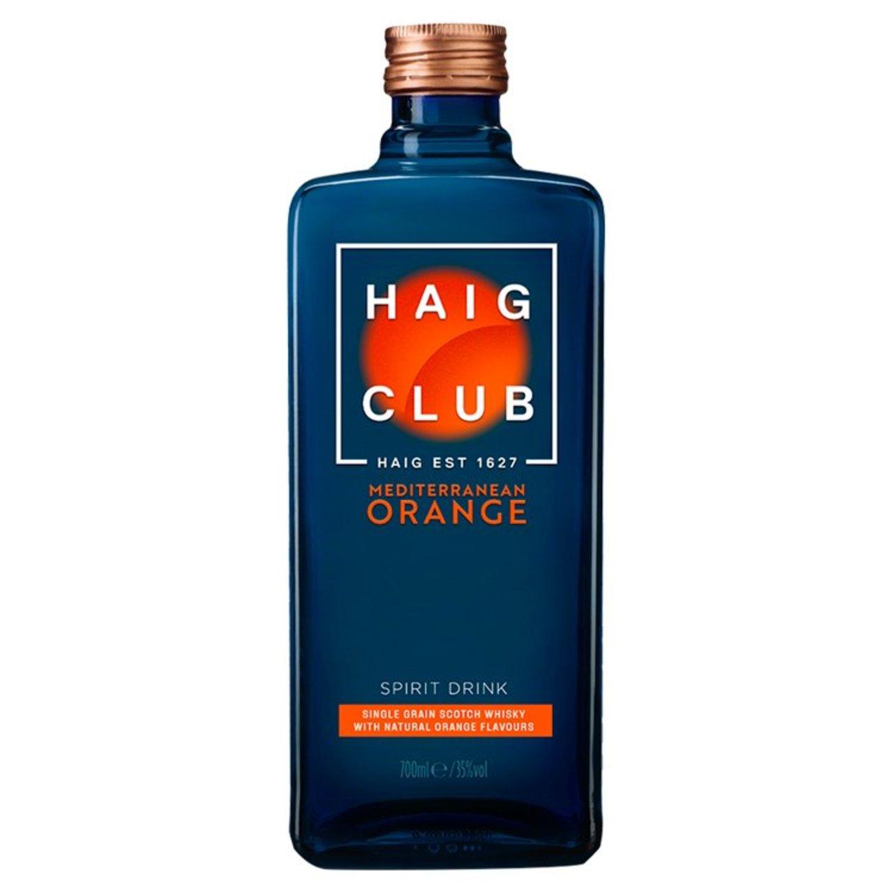 Haig Club Mediterranean Orange Scotch whisky Spirit Drink £16 introductory offer instore at Morrisons Felixstowe