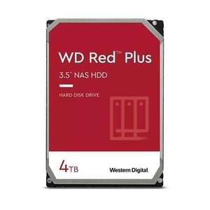 WD 4TB Red Plus (CMR) NAS Hard Drive, £87.87 delivered with code at Box ebay (UK Mainland)