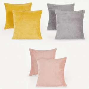 Yellow, Pink or Grey Cushion (40cm x 40cm) - 2 pack for £4.90 (free click & collect) @ George