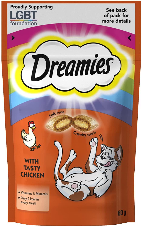 Dreamies cat treats 60g - 25p @ Wilko (Acton)