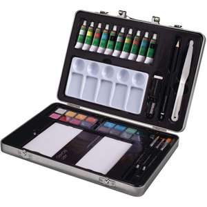 Derwent Academy Painting Art Set, 36 Pieces including watercolour, acrylic and oil paints for £20 delivered @ Maqio Toys