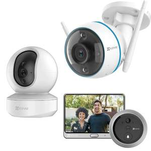 Ezviz Smart Indoor and Outdoor Cameras From £23.99 (Prime exclusive) Sold By Ezviz Direct And Fulfilled By Amazon