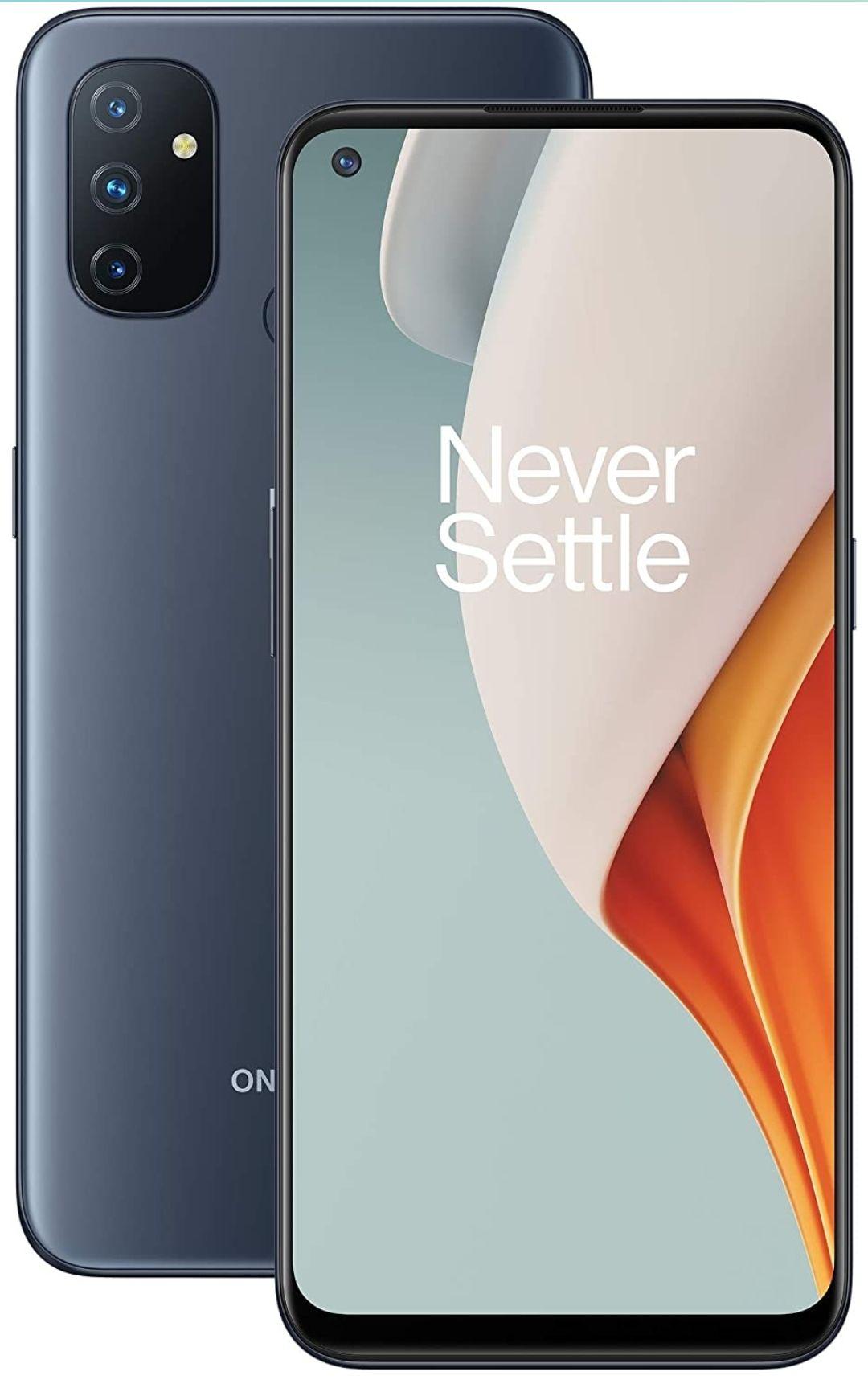 OnePlus N100 4G 4GB RAM 64GB Dual SIM 5000 mAh Battery - Midnight Frost Smartphone - £109.99 + £10 Top Up @ Three