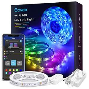 5m Govee Smart LED Lights Works with Alexa and Google Assistant/Music Sync/RGB Color £15.35 / 10m £27.99 delivered, sold by Govee UK and FBA
