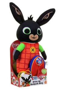 Dress up Backpack Bing Soft Toy for £12 click & collect (clearance) @ Argos