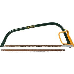 Bulldog Tools 21-inch bow saw with knuckle guard and spare saw blade for £6.49 click & collect @ Toolstation