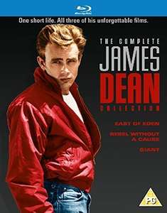 James Dean: The Complete Collection [East Of Eden/Rebel Without A Cause/Giant] [Blu-ray] £9.99 + £2.99 Non- Prime @ Amazon
