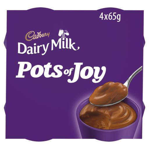 Cadbury Pots of joy 4 x 65g £1.30 @ Co-operative