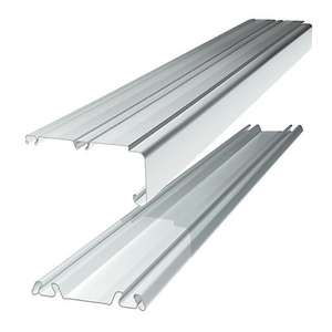 Spacepro Sliding Door Trackset - White 2.7-3.6m now £5 + Free click and colect @ Wickes