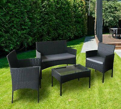 Rattan Garden Furniture Set - 4 Piece - Chairs / Sofa / Coffee Table - Outdoor Patio Set - £159.95 @ eBay / ijinteriors