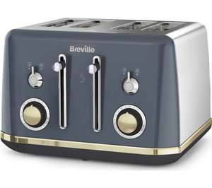 BREVILLE Mostra VTT931 4-Slice Toaster - Grey or White £39.99 @ Currys PC World