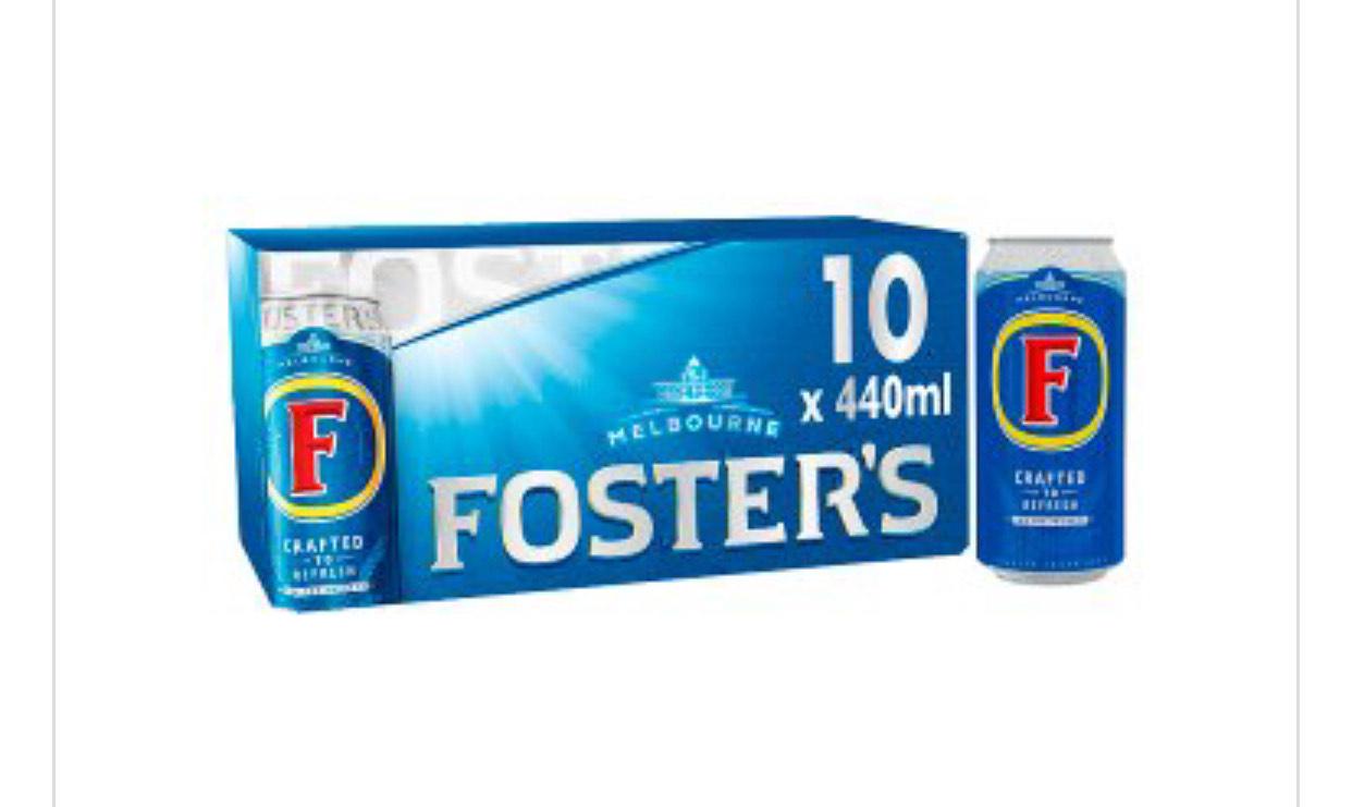Foster's Australia10x440ml £8 @ Waitrose