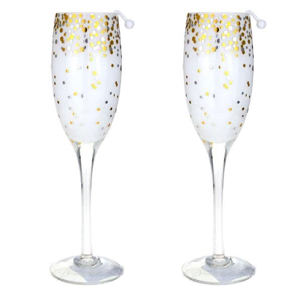 2 x Yankee Champagne Flute Glasses Tea Light Candle Holder £4 delivered @ Yankee Bundles
