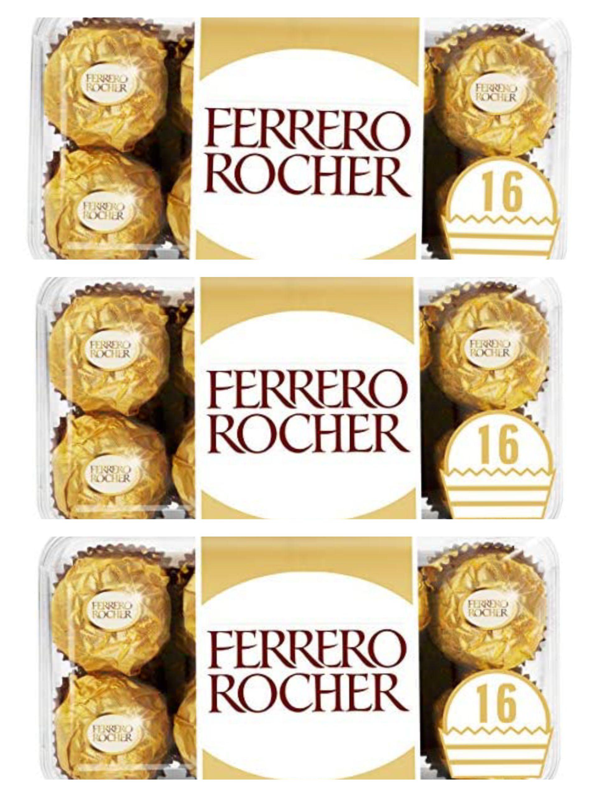 Ferrero Rocher Pack of 16 Chocolates - £2.79 (min. order quantity: 3) - £8.37 Prime / +£4.49 Non-Prime @ Amazon