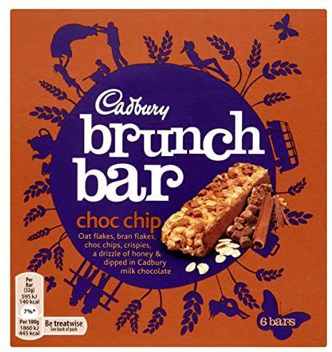 Cadbury Brunch Bar Chocolate Chip, 6 x 32g - 69p Prime / +£4.49 non Prime @ Amazon