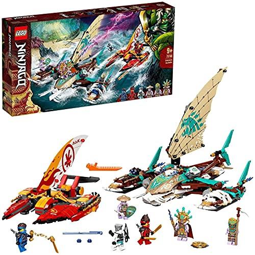 LEGO 71748 NINJAGO Catamaran Sea Battle Building Set with 4 Boat Toys and Kai, Jay and Zane Minifigures - £41.63 @ Amazon