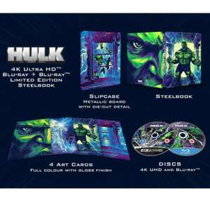 Hulk (2003) - 4K Ultra HD Steelbook (with 2D Blu-ray) £18.99 + £1.99 delivery / £16.71 using code and Red Carpet membership @ Zavvi