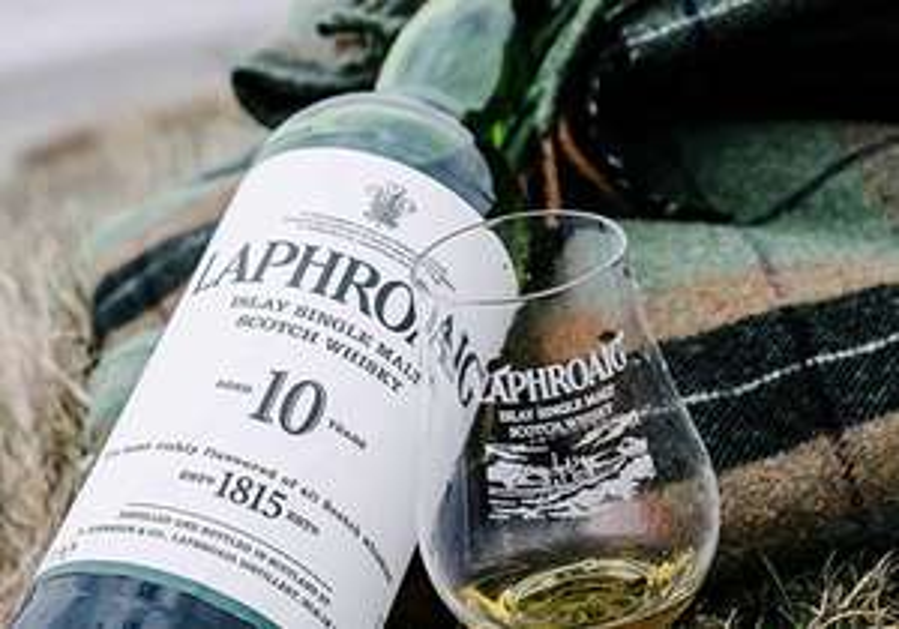 Laphroaig 10 Year Old Islay Single Malt Scotch Whisky, 70cl & Pair of Laphroaig Socks, £32 @ Amazon Treasure Truck